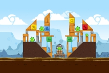 Angry Birds Chrome Dimension уровень 1