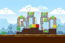 Angry Birds Chrome Dimension уровень 2