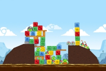 Angry Birds Chrome Dimension уровень 3