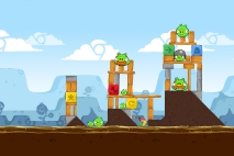 Angry Birds Chrome Dimension уровень 4