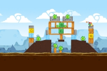 Angry Birds Chrome Dimension уровень 5