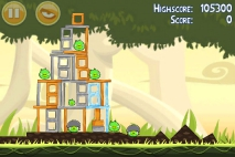 Angry Birds эпизод Danger Above уровень 6-11