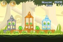Angry Birds эпизод Danger Above уровень 6-12