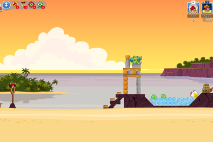 Angry Birds Friends Pigini Beach уровень 1