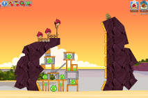 Angry Birds Friends Pigini Beach уровень 3
