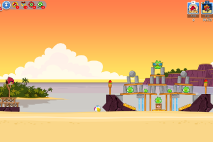Angry Birds Friends Pigini Beach уровень 4