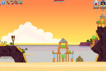 Angry Birds Friends Pigini Beach уровень 5