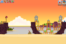 Angry Birds Friends Pigini Beach уровень 7