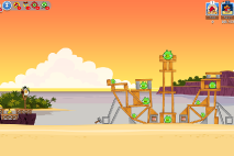 Angry Birds Friends Pigini Beach уровень 11
