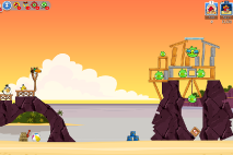 Angry Birds Friends Pigini Beach уровень 12