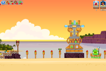 Angry Birds Friends Pigini Beach уровень 15