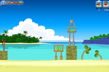Angry Birds Friends Surf and Turf Уровень 1