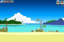 Angry Birds Friends Surf and Turf Уровень 2