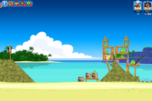 Angry Birds Friends Surf and Turf Уровень 3