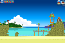 Angry Birds Friends Surf and Turf Уровень 4