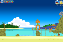 Angry Birds Friends Surf and Turf Уровень 6