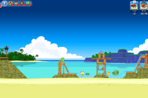Angry Birds Friends Surf and Turf Уровень 8