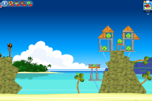 Angry Birds Friends Surf and Turf Уровень 9