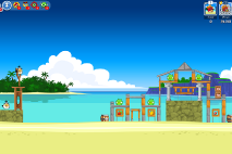 Angry Birds Friends Surf and Turf Уровень 10