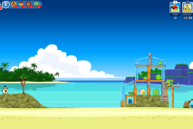 Angry Birds Friends Surf and Turf Уровень 11