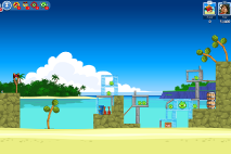 Angry Birds Friends Surf and Turf Уровень 13