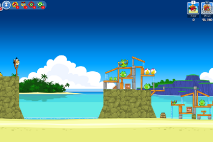 Angry Birds Friends Surf and Turf Уровень 14