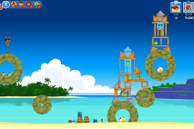 Angry Birds Friends Surf and Turf Уровень 15