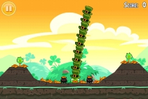 Angry Birds Seasons Go Green Get Lucky Золотое Яйцо 1