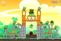 Angry Birds Seasons Go Green Get Lucky уровень 1