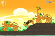 Angry Birds Seasons Go Green Get Lucky уровень 10