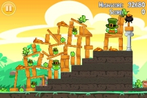 Angry Birds Seasons Go Green Get Lucky уровень 11