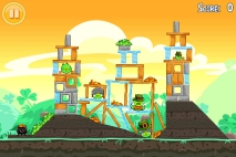 Angry Birds Seasons Go Green Get Lucky уровень 12