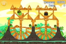 Angry Birds Seasons Go Green Get Lucky уровень 13