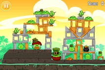 Angry Birds Seasons Go Green Get Lucky уровень 2