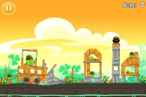 Angry Birds Seasons Go Green Get Lucky уровень 3