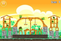 Angry Birds Seasons Go Green Get Lucky уровень 4