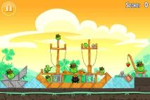 Angry Birds Seasons Go Green Get Lucky уровень 5