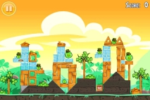 Angry Birds Seasons Go Green Get Lucky уровень 6