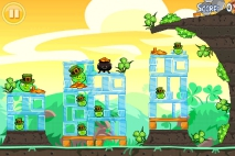 Angry Birds Seasons Go Green Get Lucky уровень 7