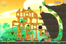 Angry Birds Seasons Go Green Get Lucky уровень 8