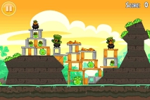 Angry Birds Seasons Go Green Get Lucky уровень 9