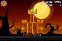 Angry Birds Seasons Trick or Treat уровень 1-1