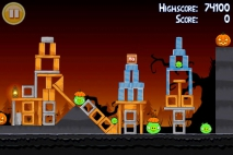 Angry Birds Seasons Trick or Treat уровень 1-12
