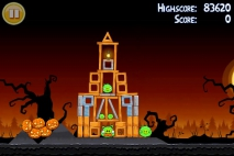 Angry Birds Seasons Trick or Treat уровень 1-13