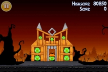 Angry Birds Seasons Trick or Treat уровень 1-14