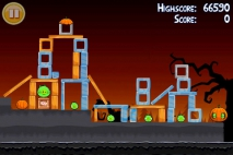 Angry Birds Seasons Trick or Treat уровень 1-15