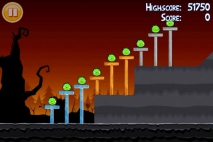 Angry Birds Seasons Trick or Treat уровень 1-2