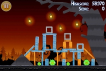 Angry Birds Seasons Trick or Treat уровень 1-4