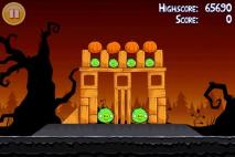Angry Birds Seasons Trick or Treat уровень 1-5