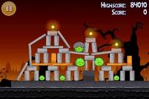 Angry Birds Seasons Trick or Treat уровень 1-7